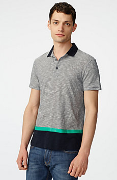Colorblock Stripe Mix Polo
