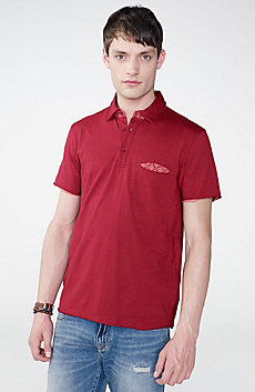 Grid Detail Polo Shirt