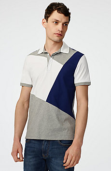 Diagonal Colorblock Polo