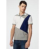 Diagonal Colorblock Polo