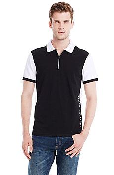 Short Sleeve Colorblock Polo
