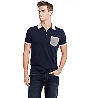 Short Sleeve Contrast Polo