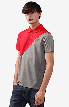 Diagonal Colorblock Logo Polo