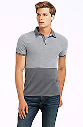 Short Sleeve Colorblock Pique Polo