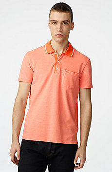 Bicolor Pique Pocket Polo
