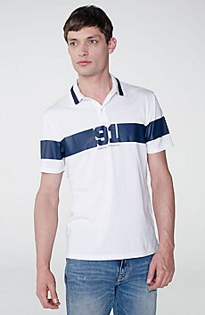 91 Stripe Logo Polo