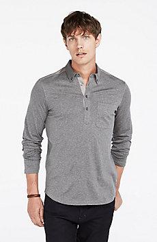 Mercerized Long-Sleeve Polo