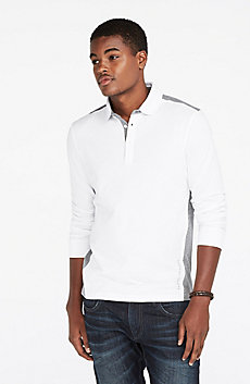 Contrast Pieced Polo