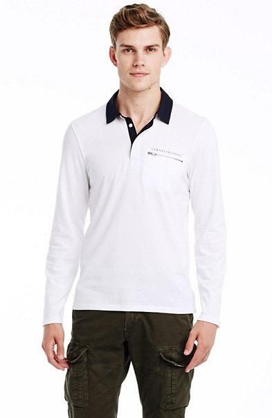 Long Sleeve Zip Pocket Polo
