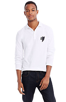 Long Sleeve Crest Polo
