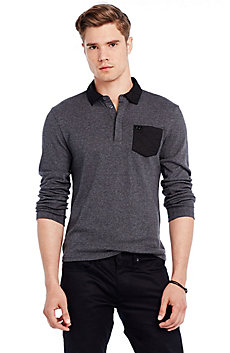Quilted Contrast Polo
