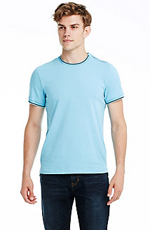 Grosgrain Logo Short Sleeve Crew