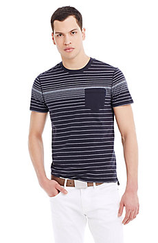 Pinstriped Jersey Tee