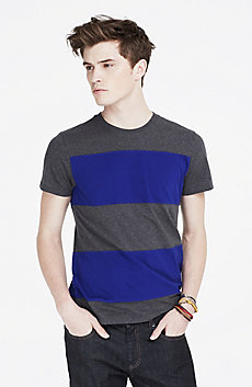 Pieced Striped Tee