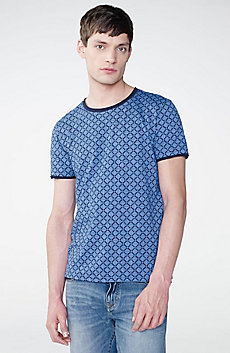 Graphic Grid Two-Layer Crew