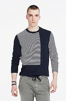Pieced Striped Shirt