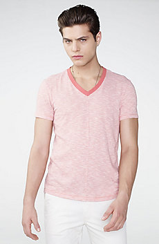 Mini-Stripe V-Neck Tee