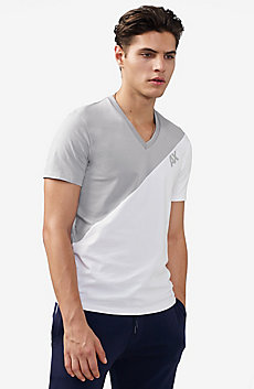 Sporty Diagonal Colorblock Tee