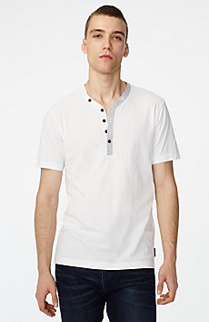 Graphic Trim Henley