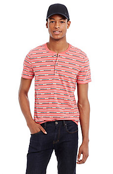 Jacquard Striped Henley