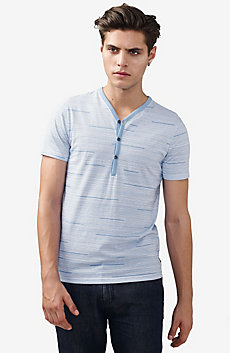 Short-Sleeve Stripe Henley