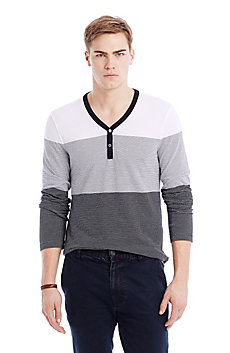 Wide Stripe Henley