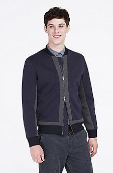 Pieced Knit Jacket
