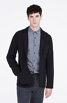 Knit Sweatshirt Blazer