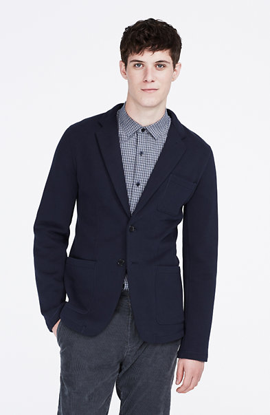 Button Front Knit Blazer