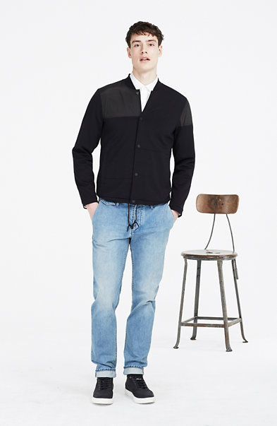 Paneled Knit Jacket