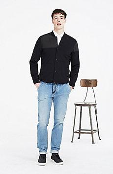 Paneled Knit Jacket