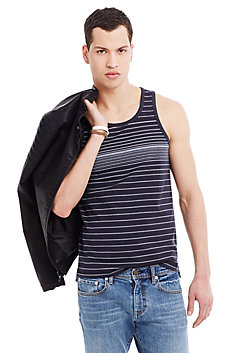 Blended Pinstriped Tank Top