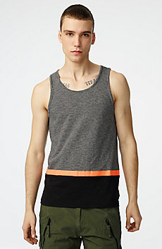 Pattern Block Stripe Tank
