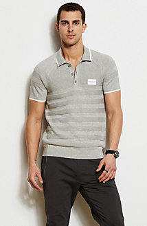 Patch Ribbed Polo
