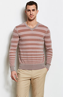 Varied Stripe V-Neck