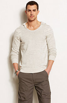 Heathered Hooded Sweater