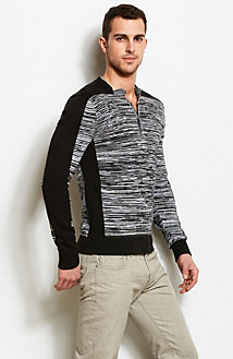 Space Dyed Henley Sweater