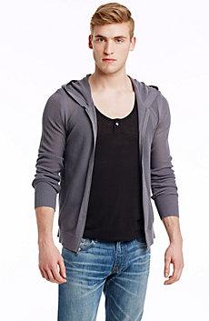 Mesh Hoodie Sweater
