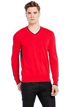 Jacquard Stripe Logo Sweater