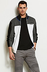 Colorblock Active Logo Sweater Jacket