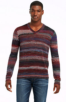 Palette Stripe V-neck Sweater
