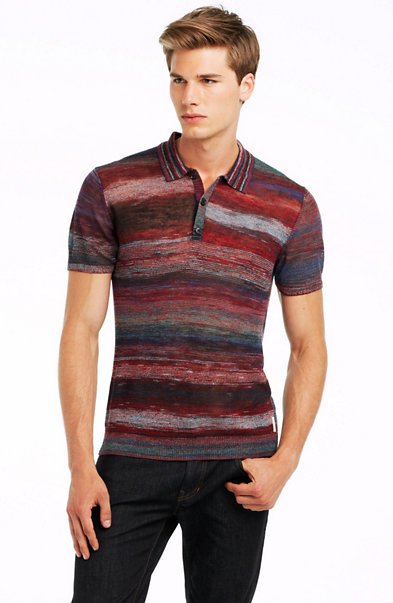 Palette Stripe Polo Sweater