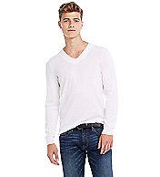 Lightweight Cotton V-neck Sweater