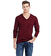 Lightweight Cotton V-neck Sweater