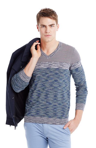 Space Dyed V-Neck Sweater
