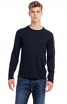 Lightweight Cotton Crew Sweater