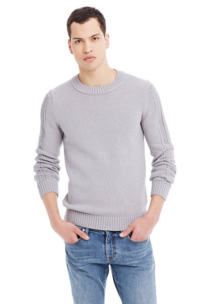 Open Stitch Stretch Cotton Sweater