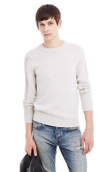 Open Stitch Stretch Cotton Sweater