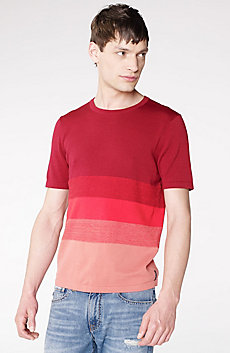 Marled Colorblock Stripe Crew Sweater