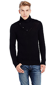 Shawl Neck Crossover Sweater